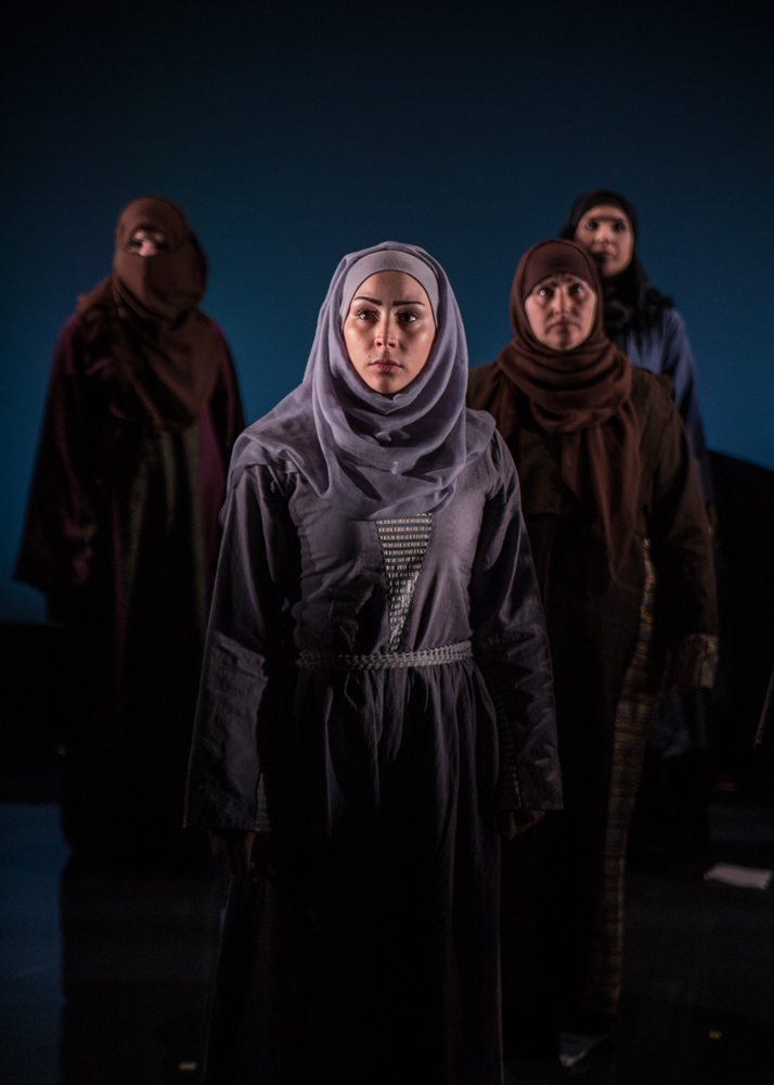 Queens of Syria at The Young Vic Theatre. Copyright Vanja Karas http://vanjakaras.com