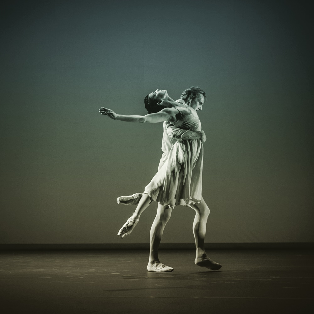 Sadler's Wells Theatre, Pure Dance, with Natalia Osipova and David Hallberg performing The Leaves are Fading. Choreography by Antony Tudor. Photography © Vanja Karas